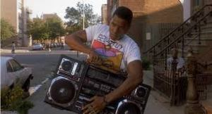 "Radio Raheem from ""Do the Right Thing"""
